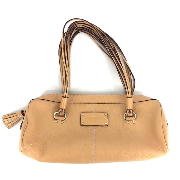 Kate Spade Camel Pebbled Leather Satchel
